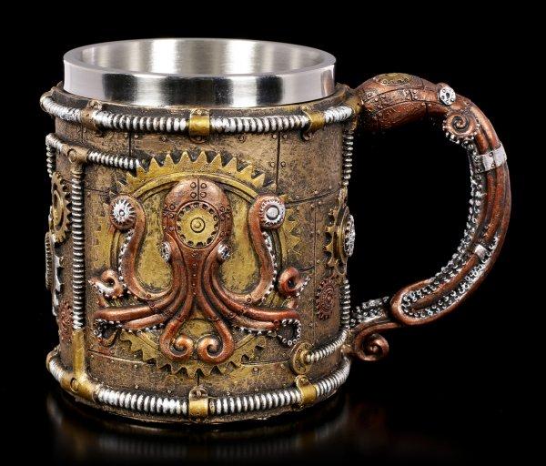 Fantasy Tankard - Steampunk Octopus