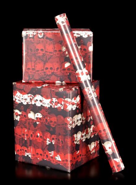 Totenkopf Geschenkpapier - Blood Skull