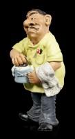 Funny Jobs Figurine - Barber with Shaving Razor