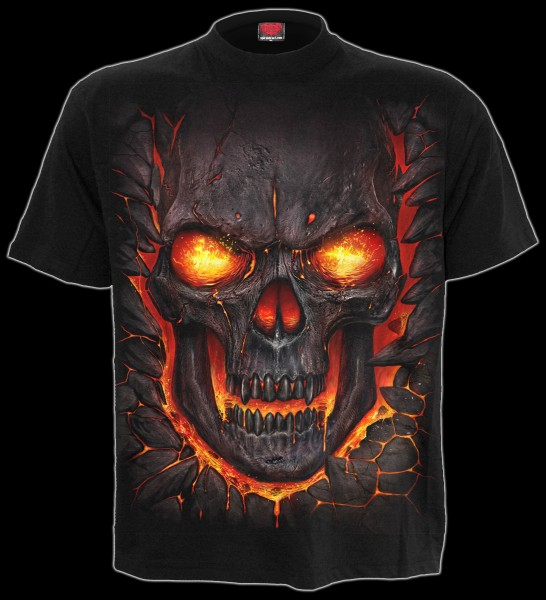 Spiral Totenkopf T-Shirt - Skull Lava