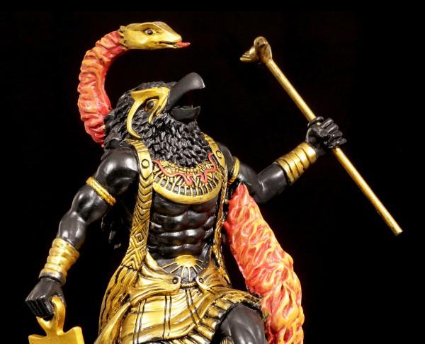 Amun Re Figur - Schwarz-Gold