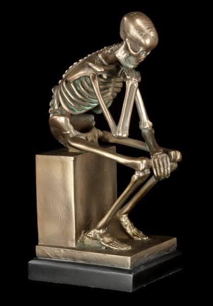 Skelett Figur - Der Denker groß