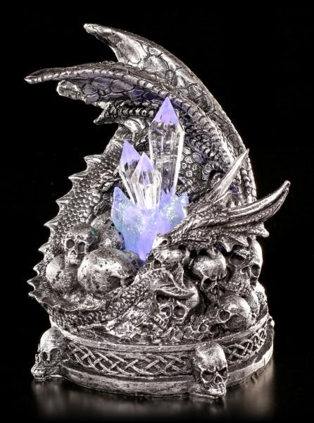 Drachen Figur - Crom bewacht Kristalle LED
