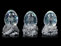 Dragon in Eggs - Snowglobe Set of 3