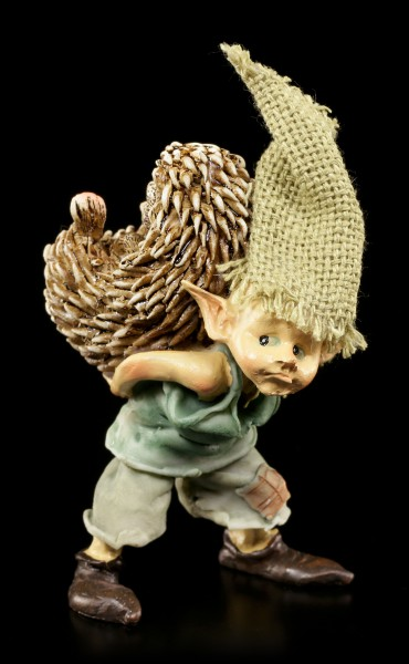 Pixie Goblin Figurine with Hedgehog - You poke...