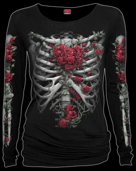 Rose Bones - Gothic Longsleeve Woman