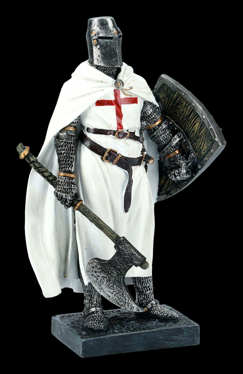 Ritter Figur - Templer mit Axt und Schild