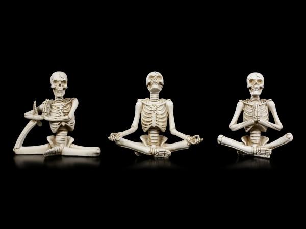 Skelett Figuren - Yoga 3er Set