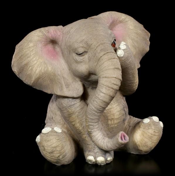 Three Wise Baby Elephant Figurines - No Evil