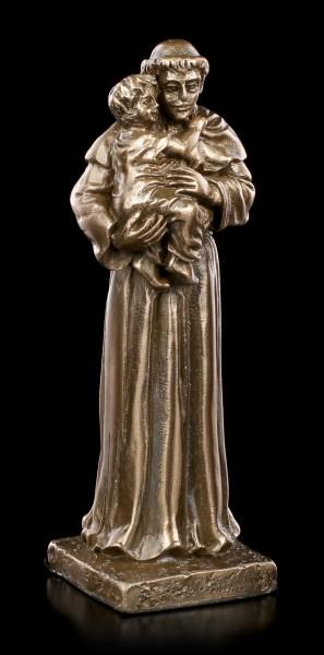 Small St. Anthony of Padula Figurine - bronzed