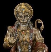 Hinduistische Affengott Figur - Hanuman - bronziert
