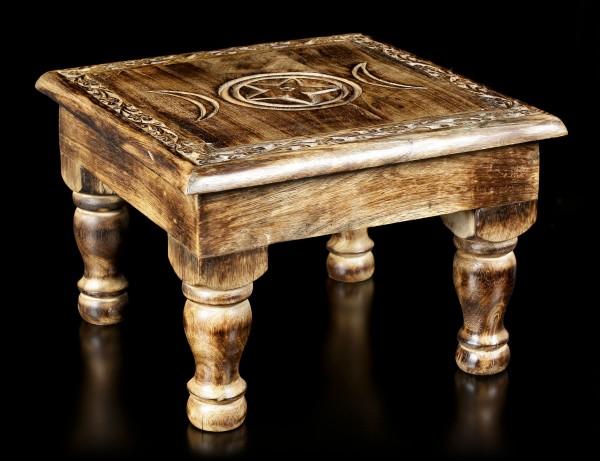 Tisch Altar - Triple Moon mit Verzierungen