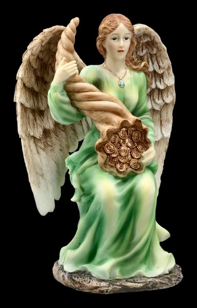 Angel Figurine - Fortuna with Gold Coins