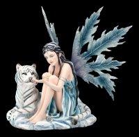 Fairy Figurine Katrina with white Tiger