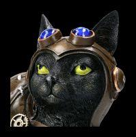 Katzen Figur - Steampunk Feline Flight