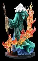 Wizard Figurine - Merlin charms Fire