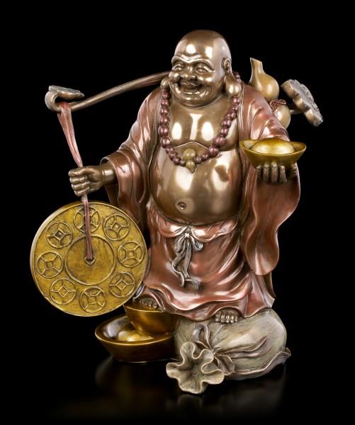 Lucky Buddha Figurine with Goldbag
