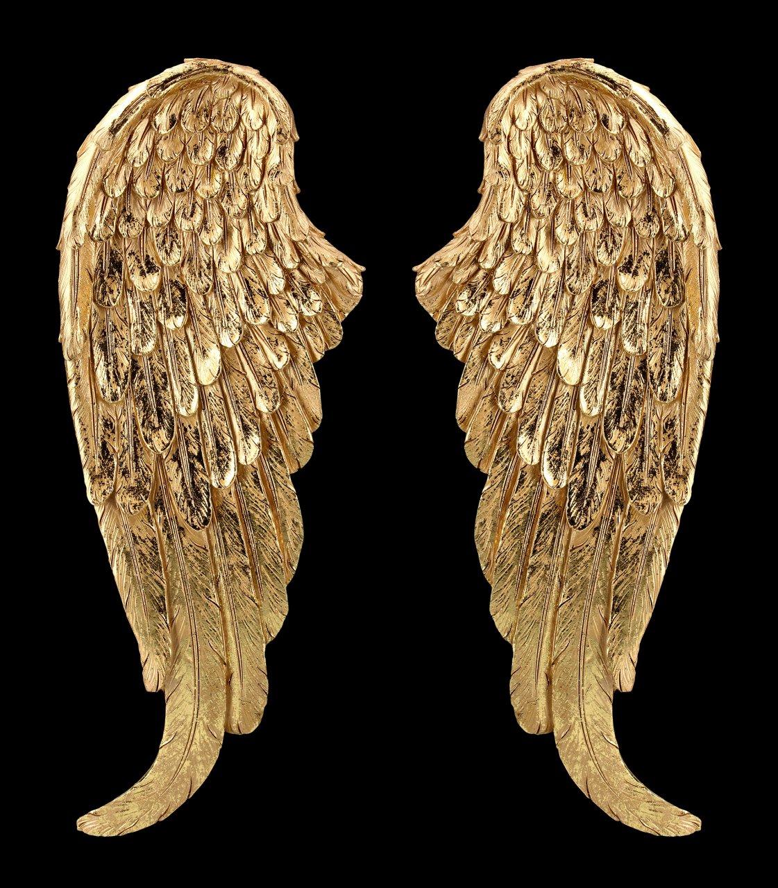Wanddeko Engelsflügel - goldfarben