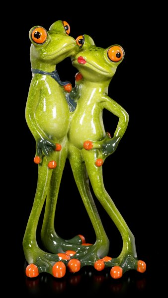 Funny Frog Figurines - Couple Lovers