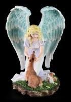 Engel Figur - Calista mit Reh