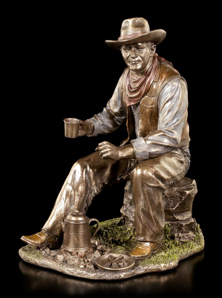 Cowboy Figur - Kaffee am Lagerfeuer