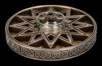 Teelichthalter - Sternzeichen mit Pentagramm