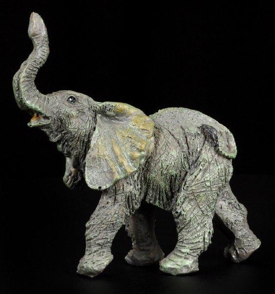 Elefanten Figur - Klein mit erhobenem Rüssel