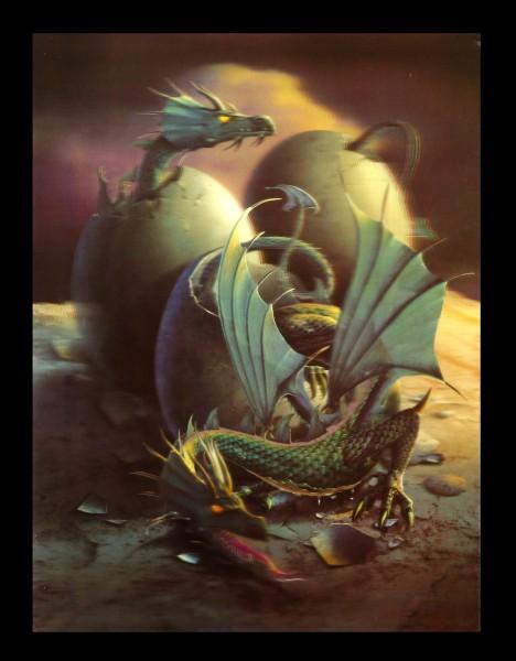 3D-Bild mit Drachen - Dragons Birth