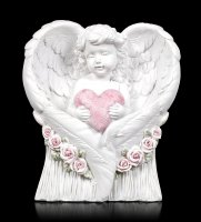 Engel Figur - Putte mit Herz