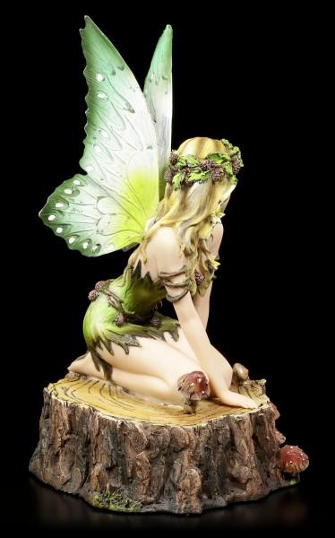 Fairy Figurine - Viheria on Tree Stump