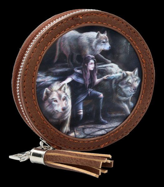 3D Coin Purse with Wolves - Power Of Three