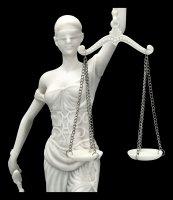 Lady Justice Figurine white
