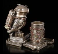 Pen Pot - Steampunk Owl