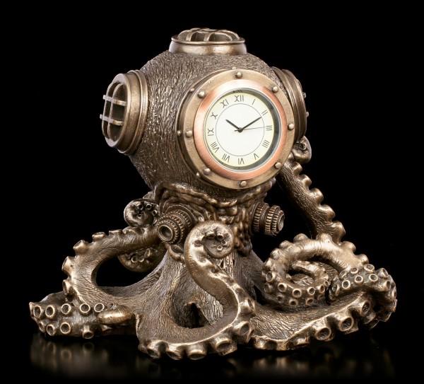 Tischuhr - Steampunk Krake