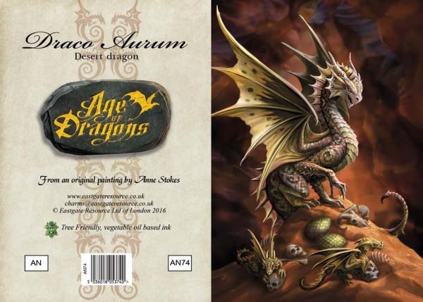 Drachen Grußkarte - Age Of Dragons - Desert Dragon