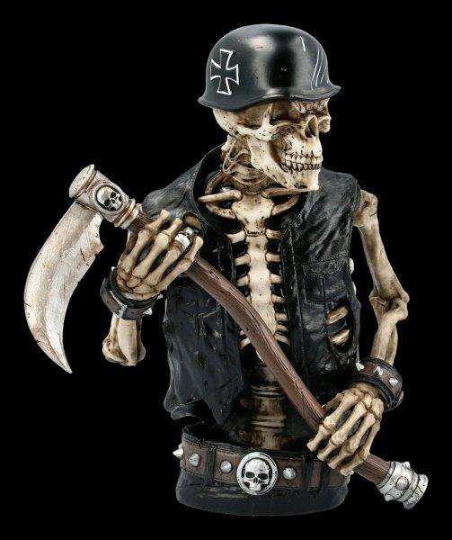Skelett Biker Figur mit Sense - Ride out of Hell