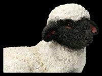 Gartenfigur - Lamm macht kleine Pause