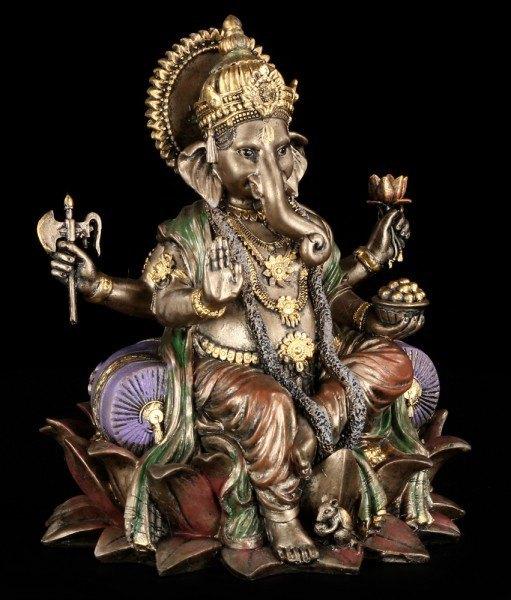 Ganesha - Gott der Reinheit - auf Lotusblüte