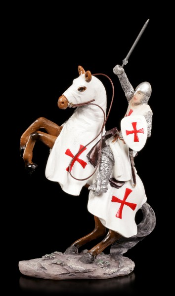 Knight Templar Figurine - Crusader on Horse