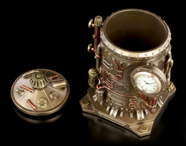 Schatulle mit Uhr - Steampunk Kessel