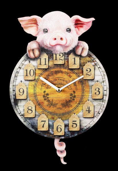 Clock with Piggy - Piggin' Tickin'