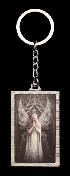 3D Schlüsselanhänger mit Gothic Engel - Only Love Remains