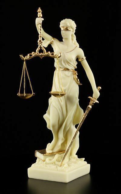 Lady Justice Figurine Dike White Gold Ancient Gods Ancient Gods Heroes Cultures Religion Kulturen Shop Www Figuren Shop De