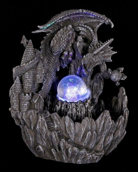 Drachen Brunnen mit LED