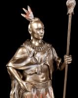 Indianer Krieger Figur mit Speer