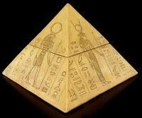 Pyramiden Schatulle - ägyptische Götter