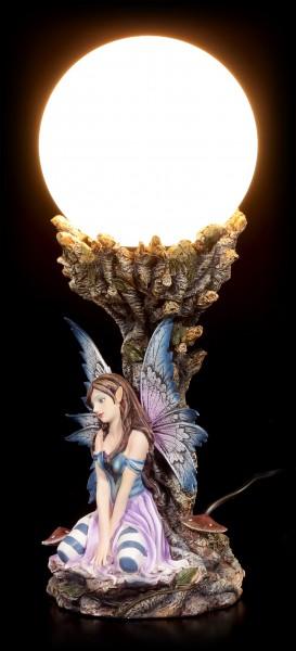 Elfen Tischlampe - Tyra mit Baum des Lichts