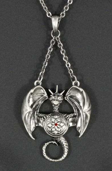 Halskette - Drache mit Schild