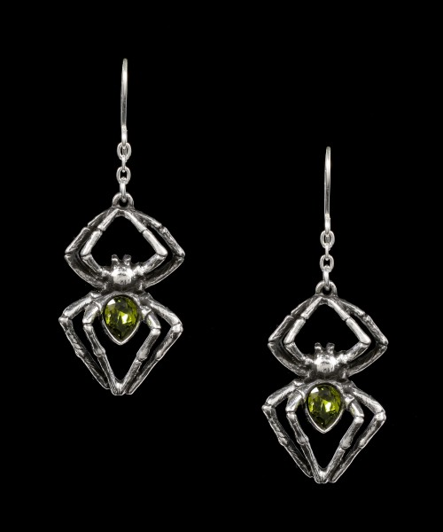 Alchemy Earrings - Emerald Venom