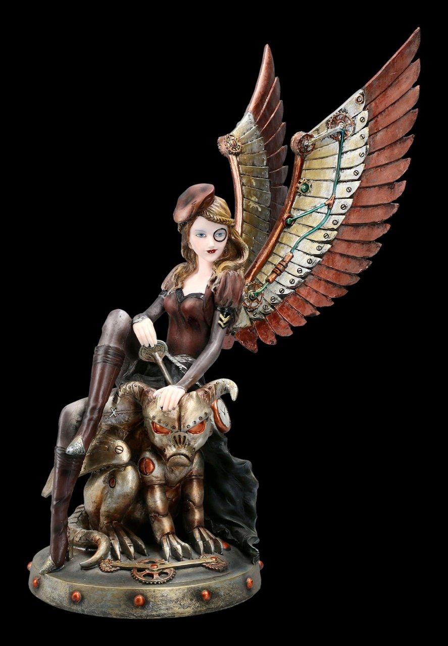 Steampunk Figur - Lady Engel mit Gargoyle
